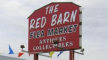 look for the red barn sign