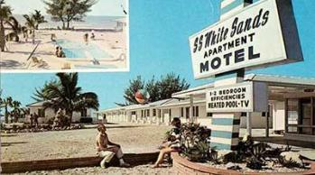 white sands vintage postcard